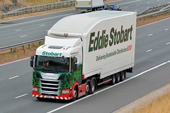 PO18 NLF (panmanstan) Tags: stobart scania ng r450 wagon truck lorry commercial freight transport haulage vehicle a1m fairburn yorkshire
