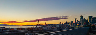 Seattle sunset panorama