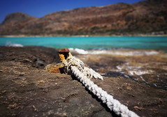 Rust & Salt (Bo.Th) Tags: rust salt sea seascape sky seaside beach rope stone sun stones colors mountain abandoned