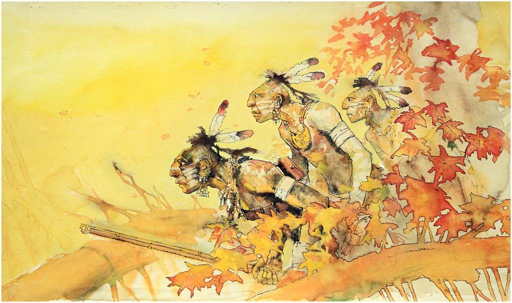 """Résultat de recherche d'images pour """"Indiens croqués par Hugo Pratt photos"""""""