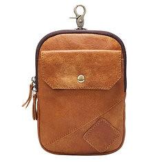 38a09d080e3e5d Men Retro Leather Waist Bag Casual Belt Phone Bag Fanny Pack with Shoulder  Strap (1165542