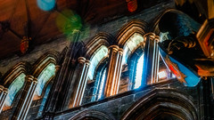 St. Mungo's Cathedral - Glasgow (Patrik S.) Tags: bokeh glasgow cathedral church windows sunrays sunbeams scotland uk united kingdom bow city colours texture old historic ancient landmark famous sign angel panasonic lumix fz1000 sight seeing ngc mediaval