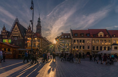 Sunset in the old town (Vagelis Pikoulas) Tags: sun sunset wroclaw poland europe travel tokina 1628mm view landscape city cityscape canon 6d may spring 2018