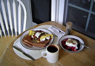 Breakfast on my Front Porch