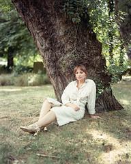 Alice (adampmane) Tags: 4x5 large format film kodak portra 160nc portrait alice catherine park natural light sun summer