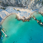 Top-down Konos Beach Protaras Cyprus thumbnail
