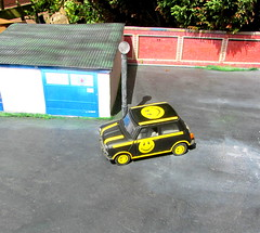 Mini Cooper 'Pull Back and Let Go' Diecast Toy By Kinsmart 1/24 Scale 1990s Styled To Look Like the Mini From The Nintendo 64 Game Twisted Metal 3 Club Kid Vehicle : Diorama Garage - 20 Of 45 (Kelvin64) Tags: mini cooper pull back let go diecast toy by kinsmart 124 scale 1990s styled to look like from the nintendo 64 game twisted metal 3 club kid vehicle diorama garage