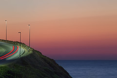 E si torna a casa (nicolamarongiu) Tags: tramonto sunset colori mare torredeicorsari longexposition lightpainting landscapes paesaggio concept concettuale blu red lampioni sardegna sardinia italy