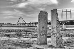 Remember the waalcrossing (JnHkstr) Tags: 2018 oversteek waalcrossing woii monument blackandwhite zwartwit brug bridge