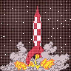 fusee tournesol tintin (alegxfr) Tags: lego tintin herge tournesol fusee rocket moon