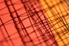 #Mesh shadows (aenee) Tags: aenee nikond7100 sigma105mm128dgmacrohsm mesh shadows 7dwf schaduwen orange oranje red rood paper papier chickenwire kippengaas abstract 3inch dsc5290 20180808