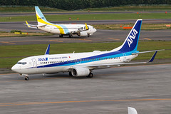 ANA B737-800(WL) JA55AN 001 (A.S. Kevin N.V.M.M. Chung) Tags: aviation aircraft aeroplane airport airlines boeing plane spotting newchitose cts hokkaido takeoff departure sky flying apron taxiway b737 b737700wl airdo ana b737800wl