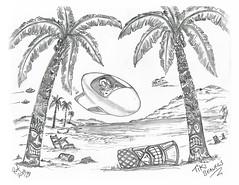 Tiki Beavers (rod1691) Tags: myart art sketchbook bw scifi grey concept custom car retro space hotrod drawing pencil h2 hb original story fantasy funny tale automotive illistration greyscale moonpies sketch sexy