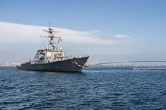 150625-N-EH218-059 (SurfaceWarriors) Tags: deployment homecoming milius sandiego 5th fleet 7th eh218 ddg 69 navalbasesandiego calif unitedstates