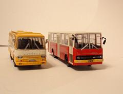 Autosan H9-03 & Ikarus 260 (transport131) Tags: bus autobus model deagostini autosan h9 h903 ikarus 260 mzk warszawa