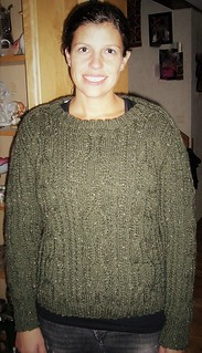 Wife in her sexy wool sweater