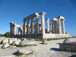 Afea's (or Aphaia) wonderful temple, Aegina island, Greece