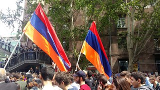 Armenians on streets