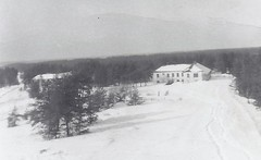 c. 1955 / 1956 - Vintage Snapshot Photo - Winter Scene / Various Buildings at Military Camp Petawawa, Ontario - Petawawa, Ontario (Treasures from the Past) Tags: camppetawawa petawawa ontario military 1955 1956 canada building winter snow