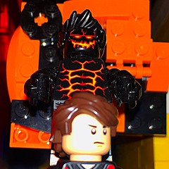 Bulk: First Refugee of Hell (Capcranium) Tags: lego league inferno flame hero heroes super superhero hulk portal fire refugee demon hell