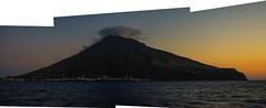 Stromboli - Volcano (Angelo Petrozza) Tags: merging unione stromboli volcano vulcano sicilia sicily italia italy panoramica sunset tramonto angelopetrozza hd35mmmacrolimited