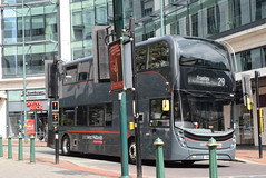 NXWM 6888 @ Priory Queensway, Birmingham (ianjpoole) Tags: national express west midlands alexander dennis enviro 400mmc sn67wyf 6888 working platinum route 29 steelhouse lane birmingham holly hill shopping centre frankley