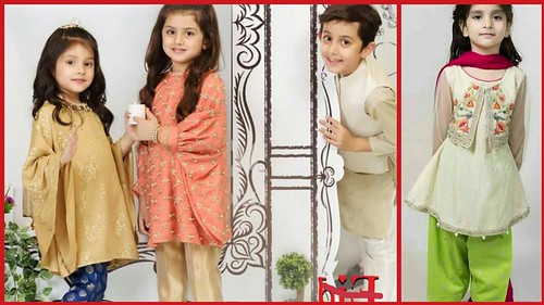 8fa8b9404112a New Collection Of little Girl Branded Dresses 2018-Stylish Kids Wear For Eid