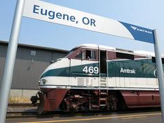 Train Time in Eugene (Slideshow Bruce) Tags: eugene oregon amtrak cascade talgo f59 469