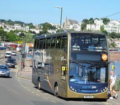 Torquay (Andrew Stopford) Tags: yn63bxa scania n230ud adl enviro400 stagecoach gold torquay
