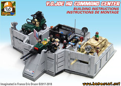 HQ COMMAND CENTER INSTRUCTIONS (baronsat) Tags: lego custom model moc military gijoe playset headquarters hq command center diorama minifigures minifigs 1985 tv television serie animated 80s 334 action figure vintage baronsat base comic book us soldier hasbro army navy air fortress force cobra real american hero instructions building
