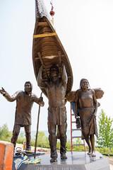 Spirit (Lester Public Library) Tags: bronze sculpture bronzesculpture monument spiritoftherivers spiritoftheriversmonument art artist wallen skipwallen rtwallen tworiverswisconsin lakemichigan tworivers americanindians nativeamericans