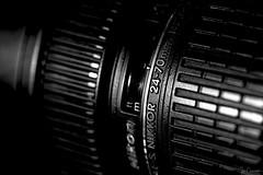 Workhorse Lens (Ian Charleton) Tags: macromondays nikon nikkor 2470 photographygear closeup monochrome blackandwhite bw product dof