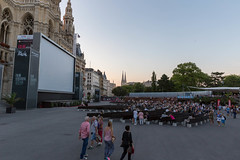Vienna Rathausplatz during the 28. Film Festival