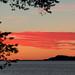Pôr do sol em outro lago