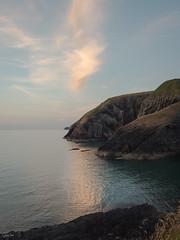 Ceibwr Sunset (Steve_Mallett) Tags: ceibwr cliffs coastal evening landscape pembrokeshire rocks seascape treffynnon newport wales gbr