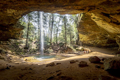 Outward perspective (Notkalvin) Tags: ashcave hockinghills ohio waterfall cave cavern woods hiking nature rock formation outdoors fun canon