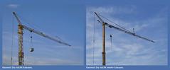 Kannst Du nicht (mehr) klauen. (Zed.Freejack) Tags: deutschland himmel frankfurt kran blue hsklauen crane sky blau enkheim flickr