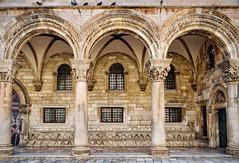 Rector's Palace, Dubrovnik (Jocelyn777) Tags: walls architecturaldetails pigeons monuments palace historictowns historicsites oldtown dubrovnik croatia balkans travel