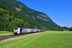 """193 771 """"Lokomotion"""" Niederaudorf (Matthias Greinwald) Tags: 193 771 189 912 cream moving europe 914 lokomotion zebra vectron güterzug zug niederaudorf"""
