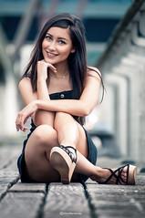 LEIRE (Mikel H.S) Tags: smile girl beauty bilbao guggenheim sonrisa