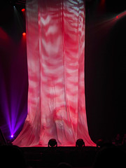 Curtain Porn (Steve Taylor (Photography)) Tags: curtain stage footlights black mauve pink purple contrast newzealand nz southisland canterbury christchurch cbd city lights spotlight theater theatre tube