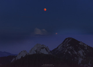 Total eclipse of the moon with mars