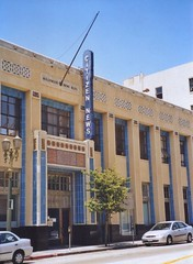 Los Angeles California - Hollywood News Building - Citizen News - Historic Building (Onasill ~ Bill Badzo) Tags: loa angeles ca california hollywood news building citizen newneon sign historic landmark heritage nrhp artdeco architecture style sold commercial onasill 1545 1551 north wilcox avenue sunset strip hollywoodblvd 1930 office adaptive reuse se edinger headquarters tenants larson studios partizan entertainment light post street fixture old vintage photo sky clouds