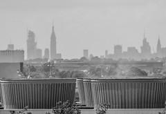 New York Skyline Viewed From JFK Airport; Queens, New York (hogophotoNY) Tags: photography digital nycskyline skyline building summer 2018 blackandwhite us usa nikondigitalcamera digitalcamera nikon hogophoto ny nyc newyorkstate newyorkcity