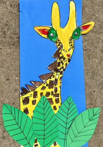 """1st grade African Giraffe Paintings #giraffe #drawing #painting #art #collage #1st #1stgrade #arteducation • <a style=""""font-size:0.8em;"""" href=""""http://www.flickr.com/photos/57802765@N07/42990435115/"""" target=""""_blank"""">View on Flickr</a>"""