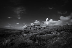 The Roaches (Alan E Taylor) Tags: atmospheric bw blackwhite blackandwhite buxton countryside dark dramatic england europe fineart landscape leek lightroom mono monochrome noiretblanc peakdistrict rock rural seleniumtone skylum skylumtonalityck staffordshire tourism tourist travel uk unitedkingdom britain british english picturesque scenic