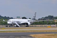 Airbus A350-1041 (A380spotter) Tags: airbus a350 a350xwb™ xtrawidebody extra 1000 fwlxv 065 carbonlivery secondprototype 2nd demonstrator airbussas aib fia18 farnboroughinternationalairshow2018 taglondonfarnboroughairport eglf fab