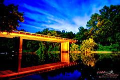 Light Painted B Bridge (1300 Photography) Tags: nikon d750 affinity 20mm lightpainting bridge reflection river nightphotography nightsky longexposure outdoors