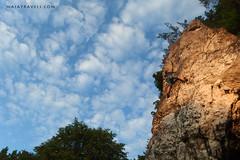 Climbing (majatravels) Tags: climber climbing adventure risk risky brave sky clouds rock extreme blue