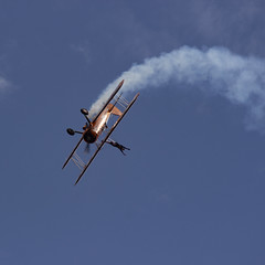 The Flying Circus Wingwalking Team, Shuttleworth Collection Family Air Show, Bedfordshire (IFM Photographic) Tags: img3990a breitlingstearman breitling stearman theflyingcircuswingwalker wingwalker wingwalking nikita aerosuperbatics canon 600d sigma70200mmf28exdgoshsm sigma70200mm sigma 70200mm f28 ex dg os hsm apo tele converter 2x af teleconverter oldwarden bedfordshire beds shuttleworthcollection shuttleworthhouse familyairshow airshow aircraft aeroplane plane airplane boeing